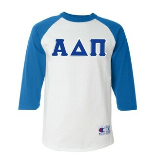 DISCOUNT-Alpha Delta Pi Lettered Raglan Shirt