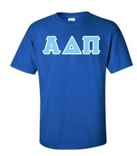 Alpha Delta Pi Hand Sewn Lettered Shirts