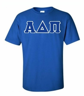 Alpha Delta Pi Lettered T-shirt - MADE FAST!