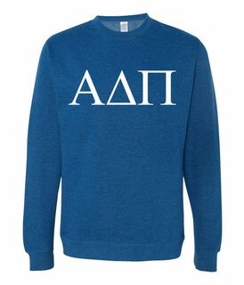 Alpha Delta Pi Lettered World Famous $19.95 Greek Crewneck