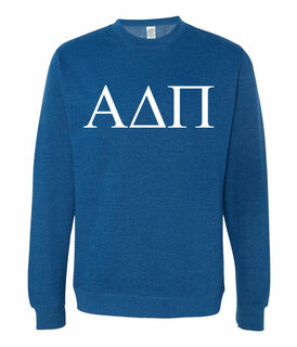 Alpha Delta Pi Lettered World Famous Greek Crewneck