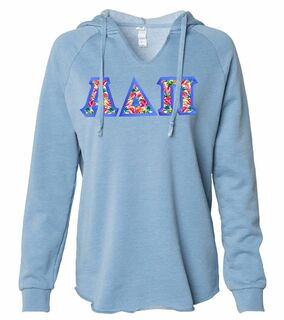 Alpha Delta Pi Lightweight California Wavewash Hooded Pullover Sweatshirt