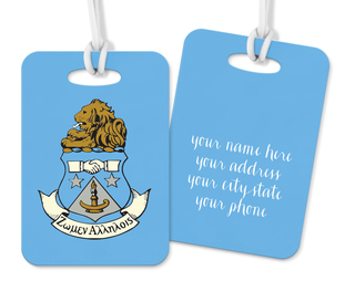 Alpha Delta Pi Crest - Shield Luggage Tag