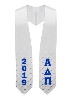 Alpha Delta Pi Flower Graduation Stole