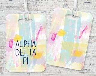 Alpha Delta Pi Watercolor Luggage Tag