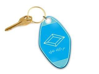 Alpha Delta Pi Mascot Motel Keychain
