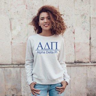 Alpha Delta Pi Message Crewneck Sweatshirts