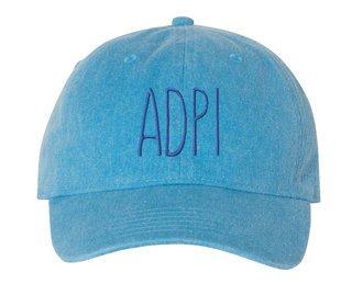 Alpha Delta Pi Mod Comfort Colors Pigment Dyed Baseball Cap