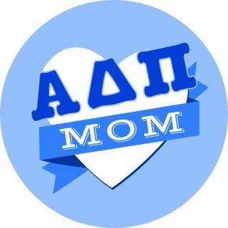 Alpha Delta Pi Mom Round Decals