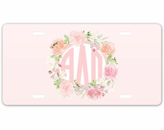 Alpha Delta Pi Monogram License Plate