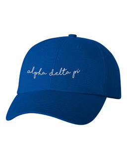 Alpha Delta Pi Smiling Script Greek Hat