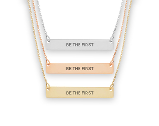 Alpha Delta Pi Motto Bar Necklace