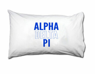 Alpha Delta Pi Name Stack Pillow Cover