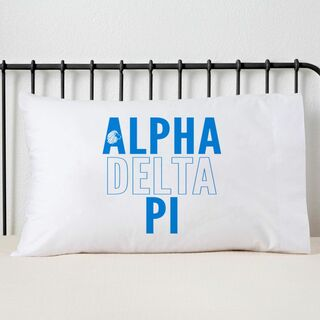 Alpha Delta Pi Name Stack Pillow Cover