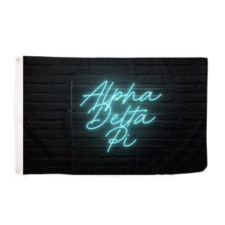 Alpha Delta Pi Neon Flag