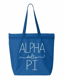 Alpha Delta Pi New Handwriting Tote Bag