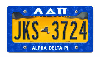 Alpha Delta Pi New License Plate Frame