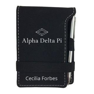 Alpha Delta Pi Mascot Notepad With Pen