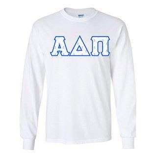 Alpha Delta Pi Official Crest Pattern Greek Lettered Longsleeve T-Shirt