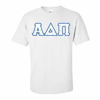 Alpha Delta Pi Official Crest Pattern Greek Lettered T-Shirt