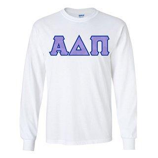 Alpha Delta Pi Official Violet Pattern Greek Lettered Longsleeve T-Shirt