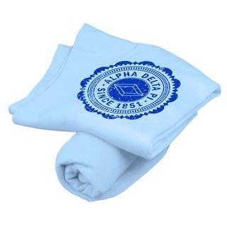 Alpha Delta Pi Old School Seal Sweatshirt Blanket