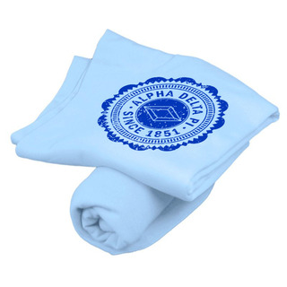 Alpha Delta Pi Old School Seal Sweatshirt Blanket