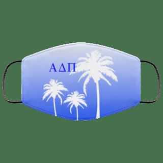 Alpha Delta Pi Palm Trees Face Mask
