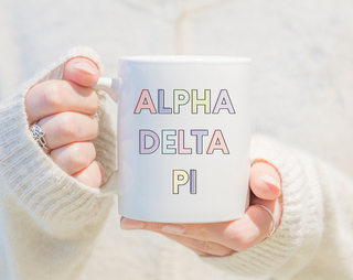 Alpha Delta Pi Pastel Mug
