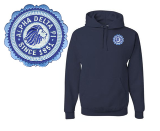 Alpha Delta Pi Patch Seal Hooded Sweatshirt