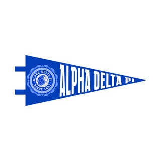 "Alpha Delta Pi Pennant Decal 4"" Wide"