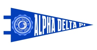 Alpha Delta Pi Pennant Decal Sticker