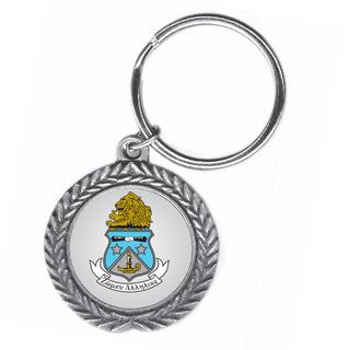 Alpha Delta Pi Pewter Key Ring