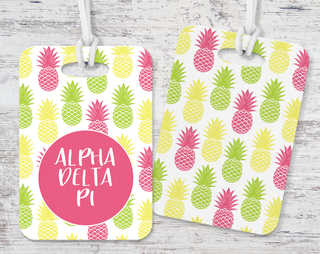 Alpha Delta Pi Pineapple Luggage Tag
