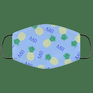Alpha Delta Pi Pineapples Face Mask