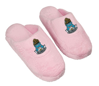 DISCOUNT-Alpha Delta Pi Pink Solid Slipper