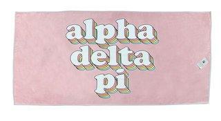 Alpha Delta Pi Plush Retro Beach Towel