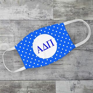 Alpha Delta Pi Polka Dots Face Mask