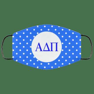 Alpha Delta Pi Polka Dots Face Mask