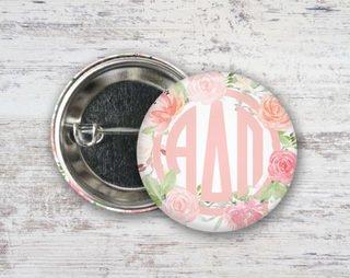Alpha Delta Pi Pretty In Pink Button