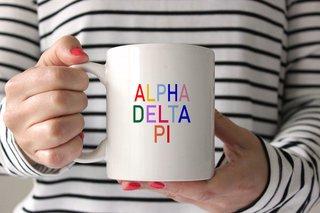 Alpha Delta Pi Rainbow Coffee Mug