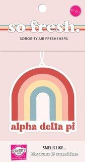 Alpha Delta Pi Rainbow Retro Air Freshener - Flowers & Sunshine Scent