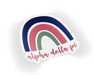 Alpha Delta Pi Rainbow Sticker