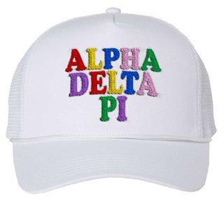 Alpha Delta Pi Rainbow Trucker Hat