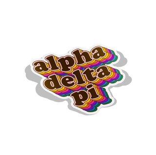 Alpha Delta Pi Retro Maya Decal Sticker