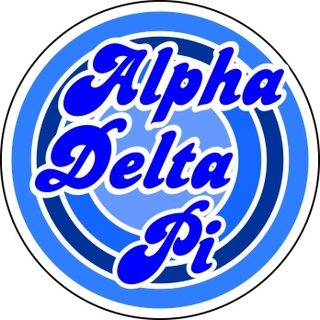 Alpha Delta Pi Retro Round Decals
