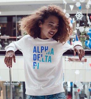Alpha Delta Pi Ripped Favorite Crewneck