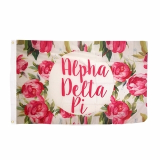 Alpha Delta Pi Rose Flag