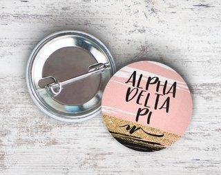 Alpha Delta Pi Rose Gold Button