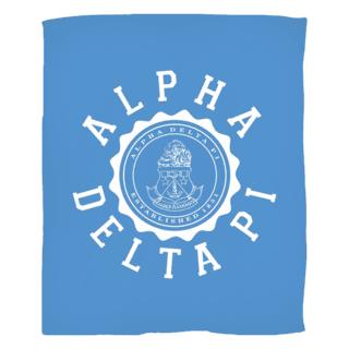Alpha Delta Pi Seal Fleece Blanket